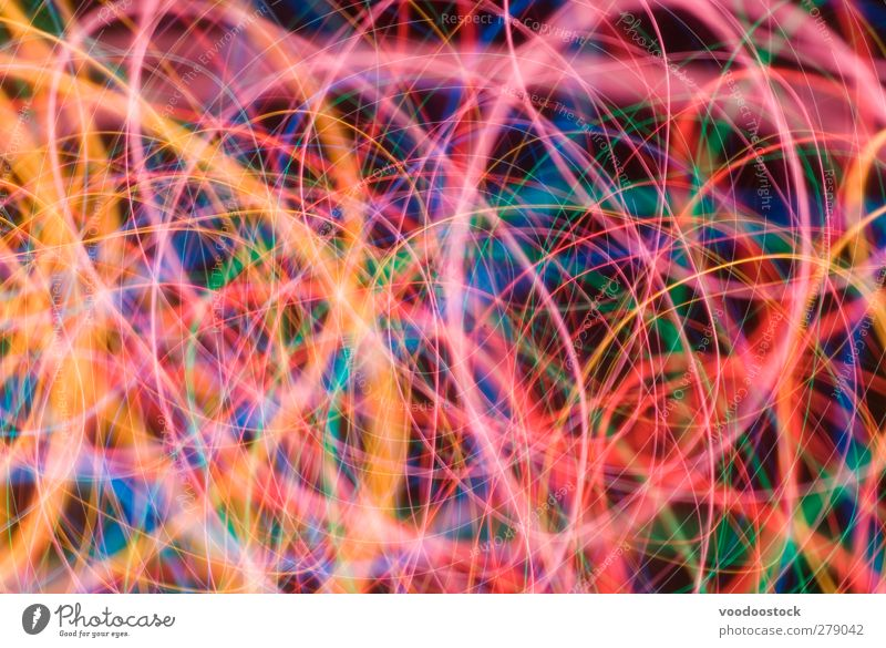 Abstract Colorful Light Swirls Blue Green Colour Black Movement Lanes & trails Bright Line Orange Pink Depth of field Dynamics Surrealism Night life Effect