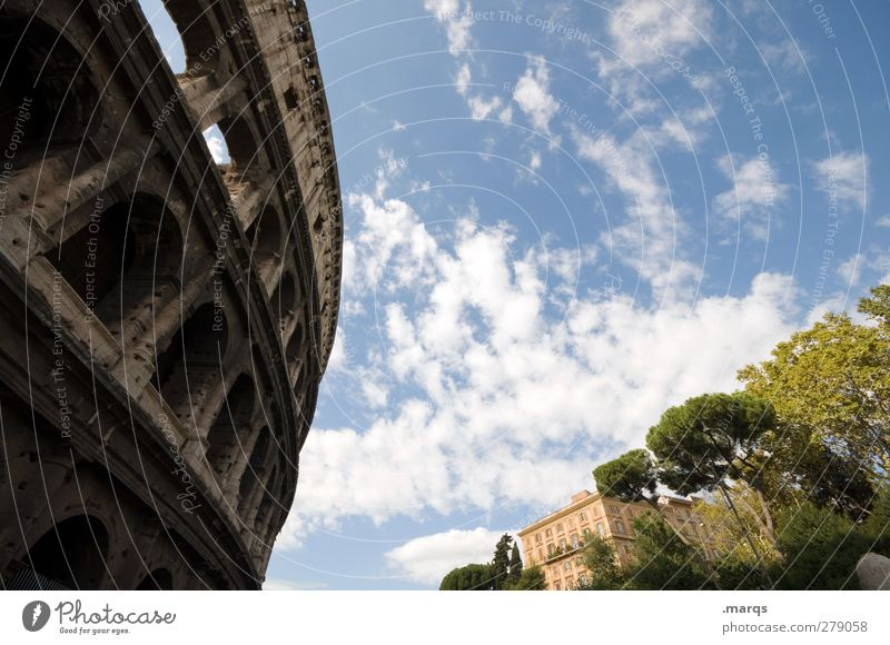 colossus Vacation & Travel Sightseeing City trip Culture Sky Clouds Rome Italy House (Residential Structure) Manmade structures Architecture Large Perspective