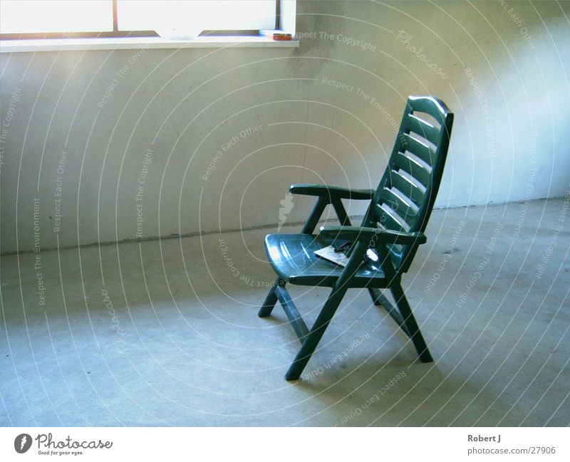 Lost garden chair Green Garden chair Summer Things Chair Light and shadow play