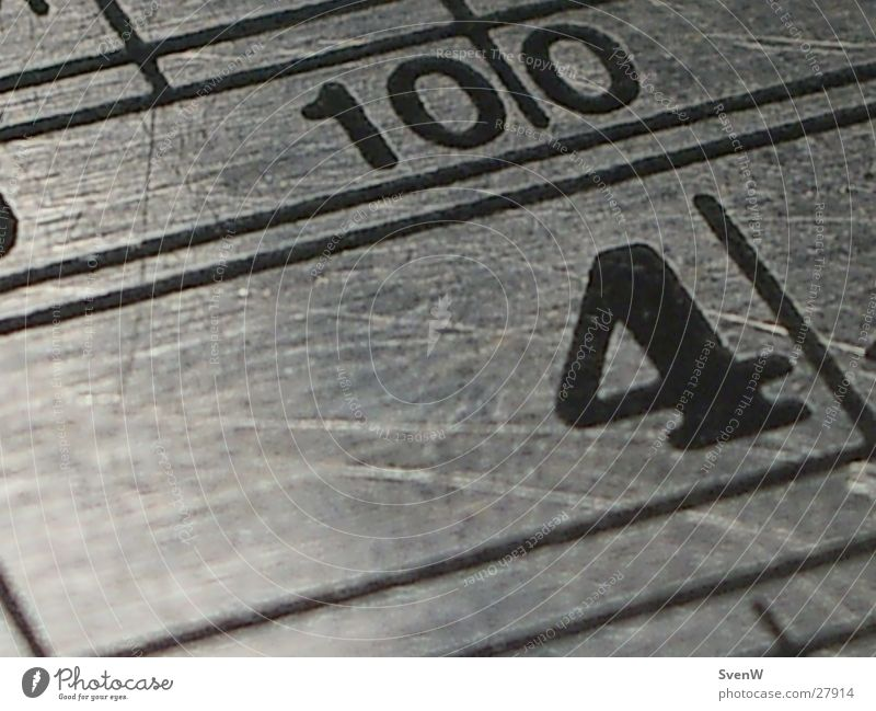 Metal Line Glittering 4 10 100 Ruler