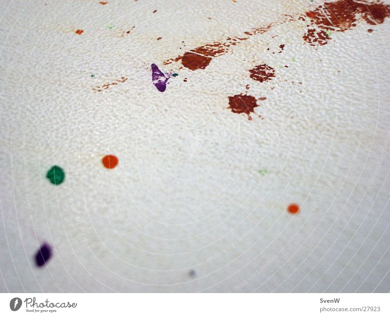 paint splotches Table Patch Red Green Violet Photographic technology Colour