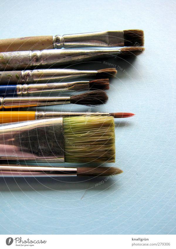 artistic soul Leisure and hobbies Painting (action, artwork) Paintbrush Lie Blue Silver Emotions Joy Colour Idea Inspiration Creativity Art Second-hand
