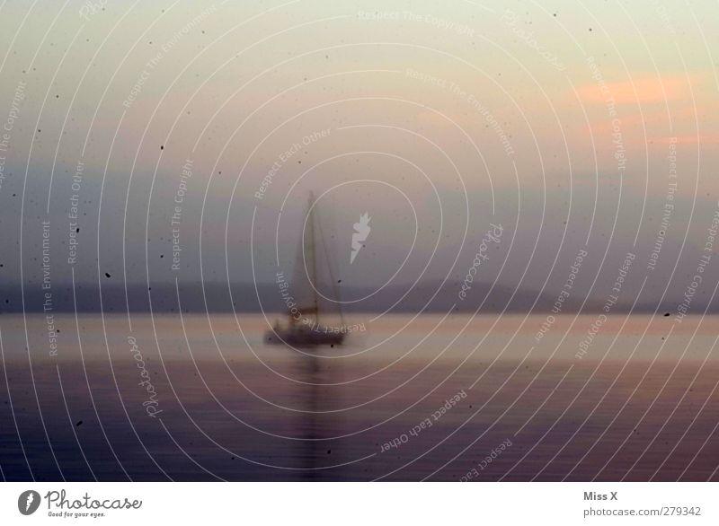 Ocean Gray Lake Waves Dirty Navigation Sailboat
