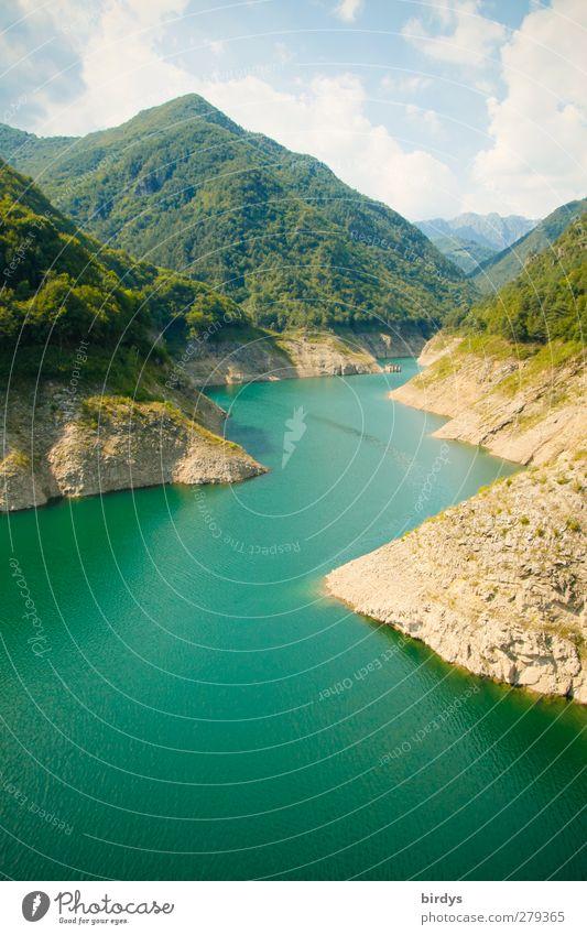 Lago di Valvestino Nature Landscape Water Summer Beautiful weather Mountain Garda Canyon Lake River Authentic Gigantic Turquoise Idyll Pure South Tyrol