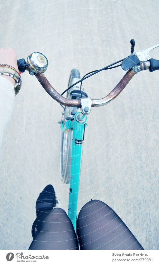 bicycle day! Feminine Young woman Youth (Young adults) Legs Feet 1 Human being Gravel path Street Vehicle Bicycle Fashion Tights Leggings Accessory Jewellery