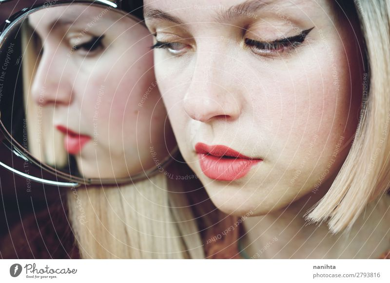 Close up of a woman with makeup Woman Human being Youth (Young adults) Old Young woman White 18 - 30 years Face Adults Natural Feminine Style