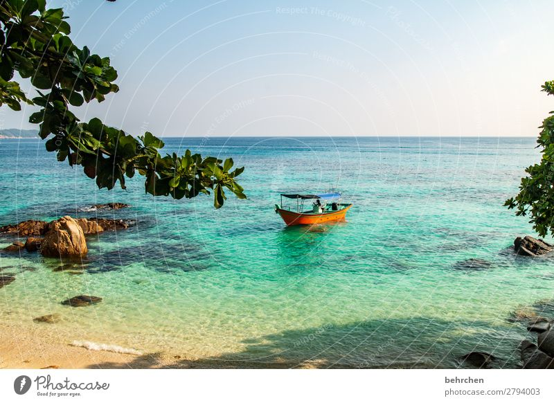 Sky Vacation & Travel Nature Beautiful Landscape Ocean Far-off places Beach Coast Tourism Exceptional Freedom Rock Watercraft Trip Dream