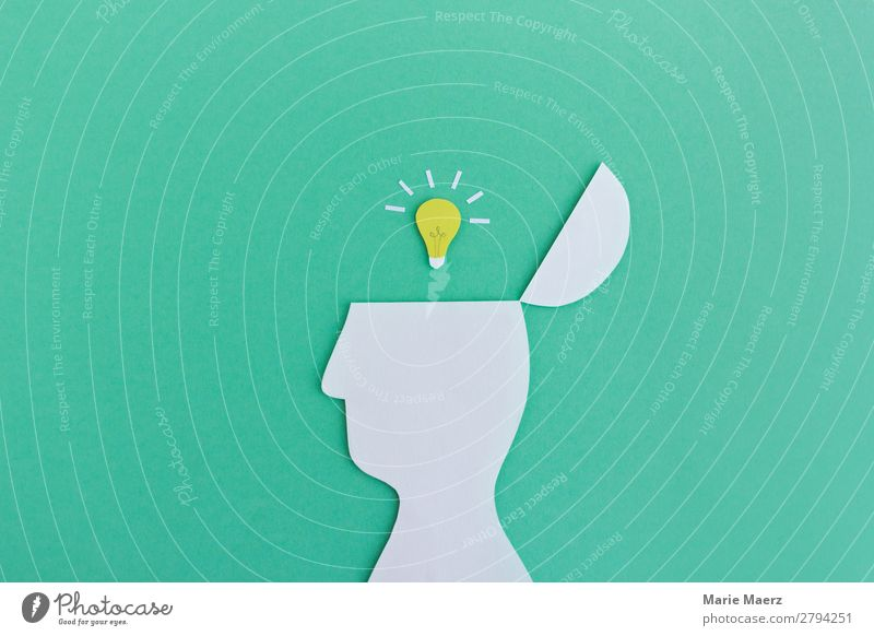 Human being Beautiful Green Head Think Power Esthetic Success Creativity Study Idea Discover Planning New Target Education