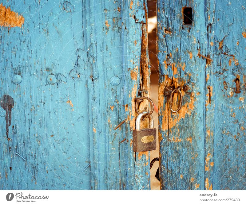 Blue Old Senior citizen Wood Metal Open Door Power Fear Closed Poverty Broken Metalware Mysterious Historic Watchfulness