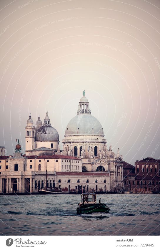 Goes Down. Art Esthetic Calm Idyll Dreamily Venice Tourism Cathedral Veneto Domed roof Historic Tourist Attraction Vacation & Travel Travel photography