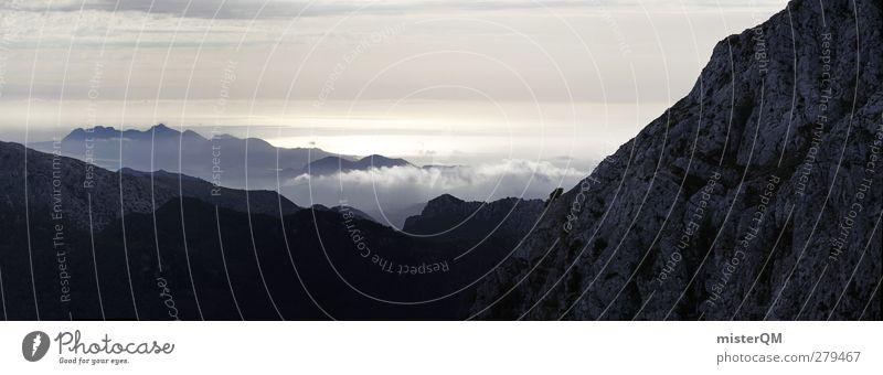 I believe. Art Esthetic Nature Nature reserve Natural phenomenon Mountain Mountain range Mountaineering Slope Mountain ridge Far-off places Panorama (View)