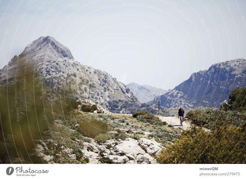 Nature Plant Landscape Environment Mountain Lanes & trails Hiking Adventure Esthetic Footpath Spain Wanderlust Majorca South Mountain range Pioneer