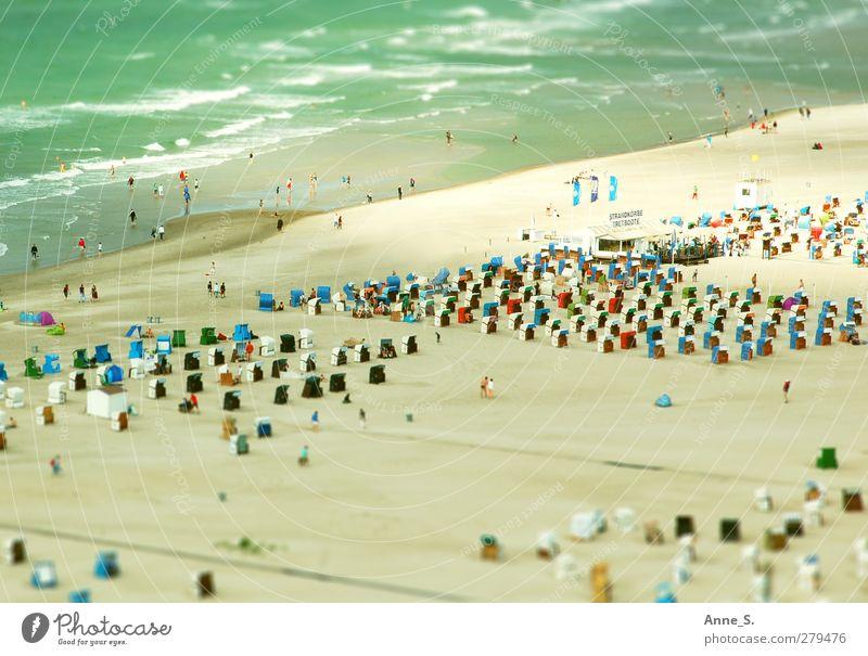 dwarf beach Wellness Life Swimming & Bathing Summer Summer vacation Sunbathing Beach Ocean Human being Crowd of people Sand Beautiful weather Warmth Coast
