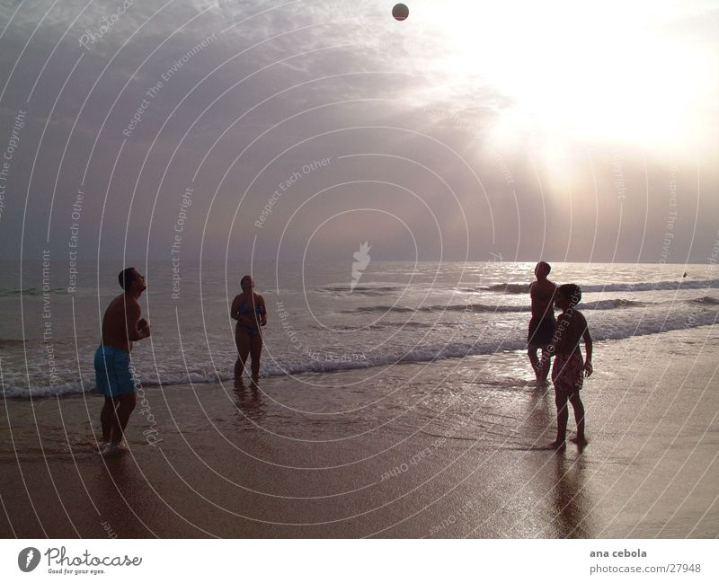 Beach 1 Sunset Nature playing with ball Water Sand