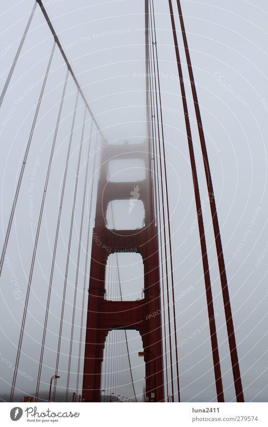 Sky City Red Fog Bridge Landmark Tourist Attraction San Francisco Golden Gate Bridge