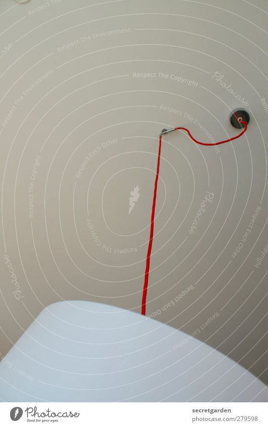 cool hang out. Living or residing Flat (apartment) Lamp Room Living room Hang Round Red White Cable Electrical equipment Lampshade Junction Colour photo