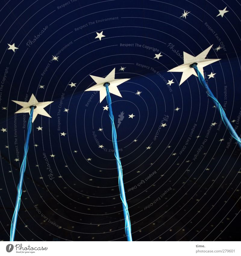 Blue Metal Dream Leisure and hobbies Energy industry Esthetic Star (Symbol) Technology Cable Culture Plastic Tent Circus Starry sky Rod Ornament