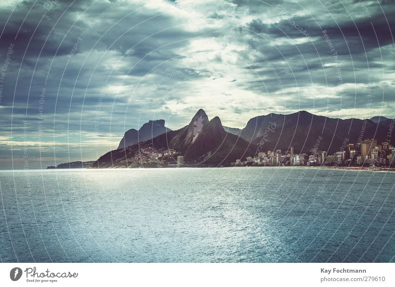 ° Style Exotic Vacation & Travel Tourism Far-off places Freedom Sightseeing City trip Summer vacation Sun Beach Ocean Clouds in the sky Mountain Rio de Janeiro