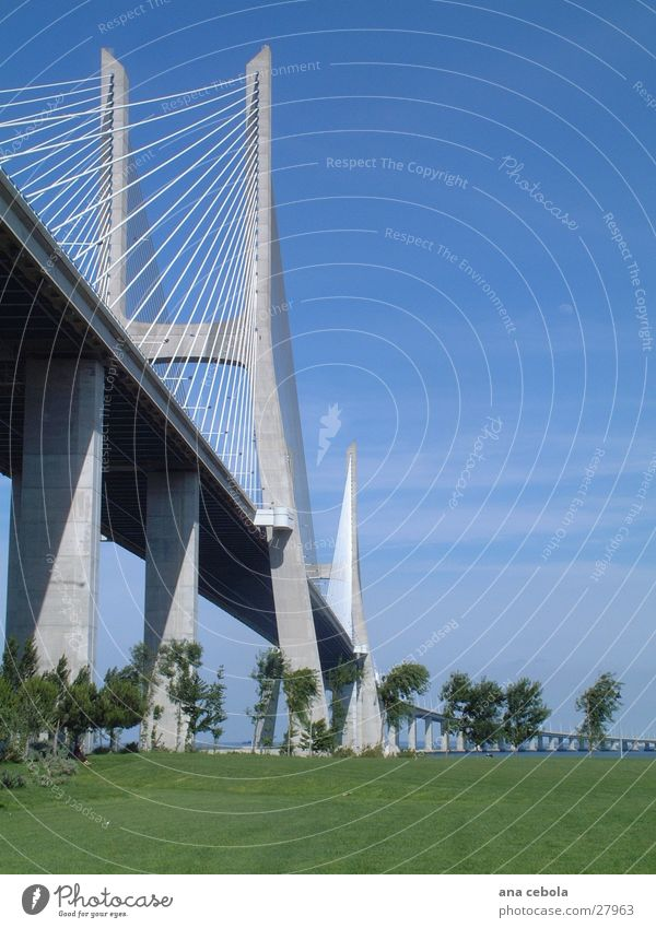 lisbon bridge 2 Lisbon Really Architecture Bridge Modern Sky