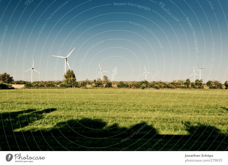 Nature Blue Green White Landscape Environment Meadow Field Wind Climate Energy industry Multiple Beautiful weather Clean Wind energy plant Ecological
