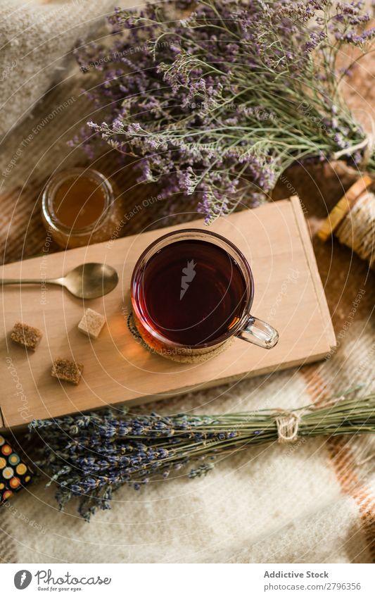 Herbs and honey near tea and sugar Honey Tea Sugar Blanket Flower Dried Cup Drinking Healthy Beverage Hot Natural Fresh Sweet Organic Ingredients Plant Aromatic