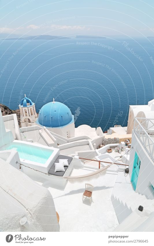 Santorini Leisure and hobbies Vacation & Travel Tourism Trip Far-off places Freedom Sightseeing Cruise Summer Ocean Waves Living or residing Flat (apartment)