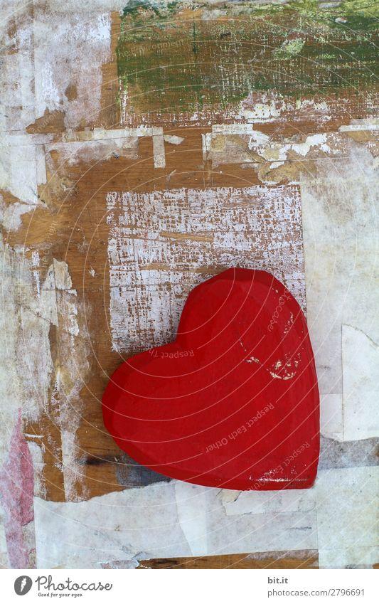 Wood Emotions Happy Contentment Decoration Heart Joie de vivre (Vitality) Romance Sign Kitsch Infatuation Loyalty Odds and ends
