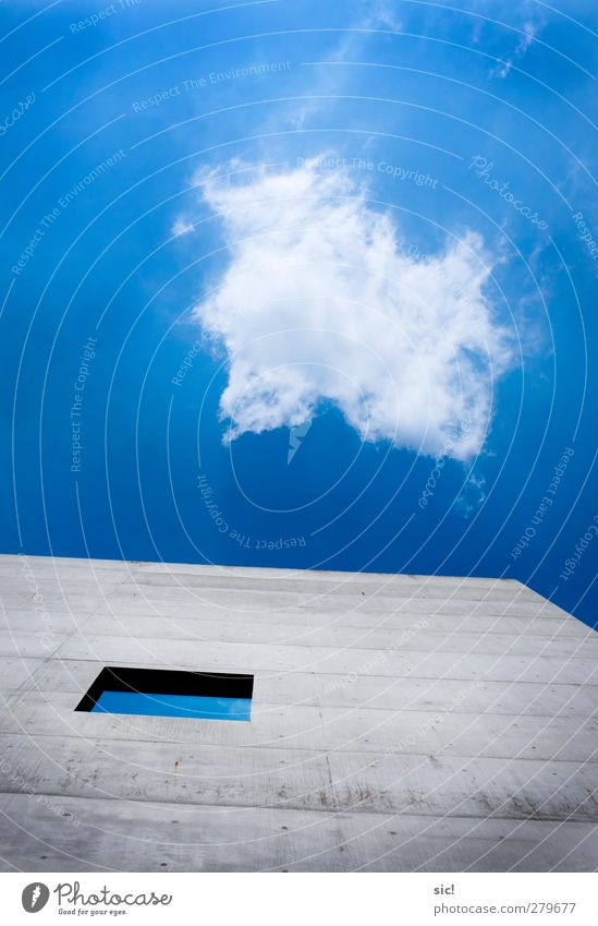 Sky Nature Blue City White Clouds Window Wall (building) Architecture Gray Wall (barrier) Building Air Bright Facade