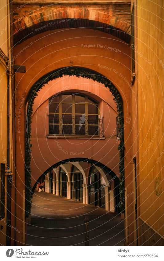 City Red Colour Calm Yellow Lanes & trails Illuminate Esthetic Idyll Italy Historic Alley Archway Old town Backwards Tasty
