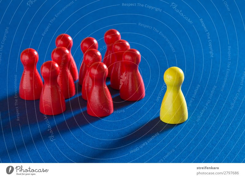 Blue Red Wood Yellow To talk Business Group Communicate Arrangement Success Study Might Team Toys Trust Advice