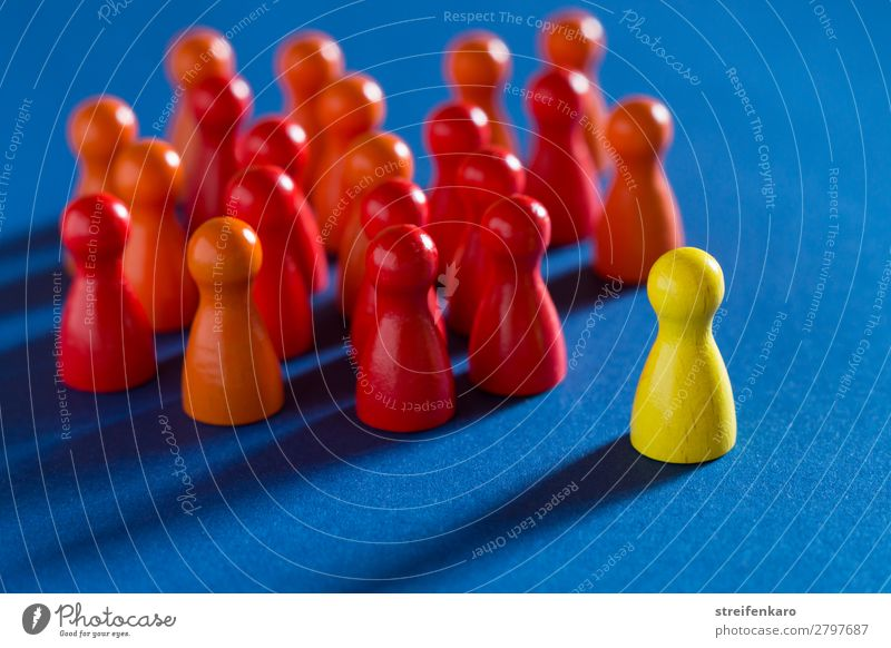 Blue Red Wood Yellow To talk Business Group Work and employment Communicate Success Study Sign Team Toys Meeting Advice