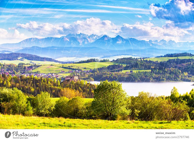 Green fields and meadows in Poland. Beautiful Vacation & Travel Tourism Trip Adventure Far-off places Freedom Sightseeing Summer Summer vacation Mountain Hiking