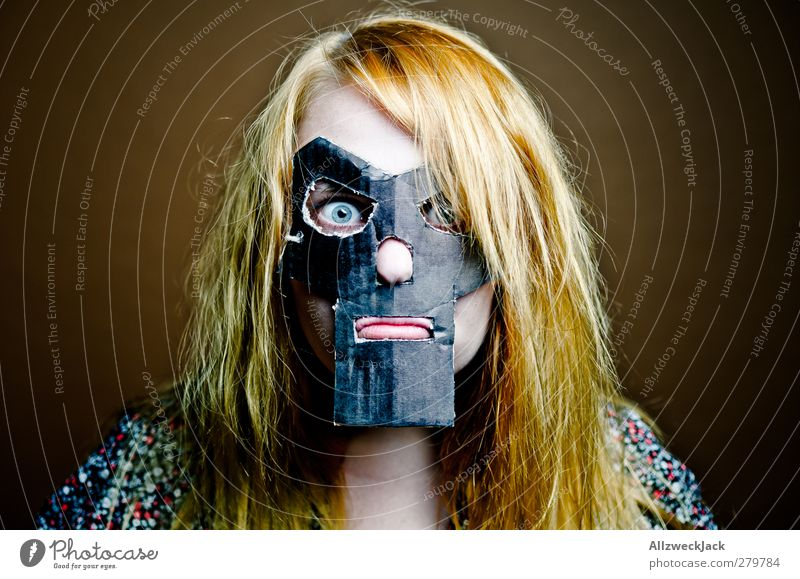 Doomsgirl 3 Carnival Feminine Young woman Youth (Young adults) 1 Human being 18 - 30 years Adults Mask Blonde Red-haired Long-haired Exceptional Dark Trashy