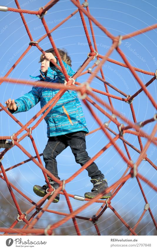 Child climbs on the playground Leisure and hobbies Playing Human being Masculine Boy (child) 1 3 - 8 years Infancy Playground Movement Success Healthy Happy