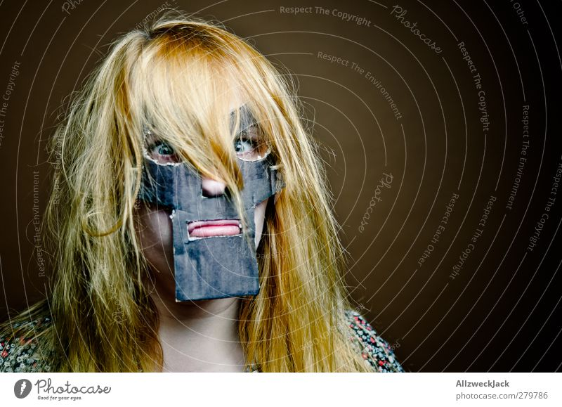 Doomsgirl 1 Carnival Feminine Young woman Youth (Young adults) Human being 18 - 30 years Adults Mask Blonde Red-haired Long-haired Exceptional Dark Trashy Crazy