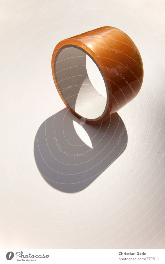 White Yellow Brown Orange Circle Round Things Plastic Coil Vista Visual spectacle Shadow play Adhesive tape Breach Drop shadow