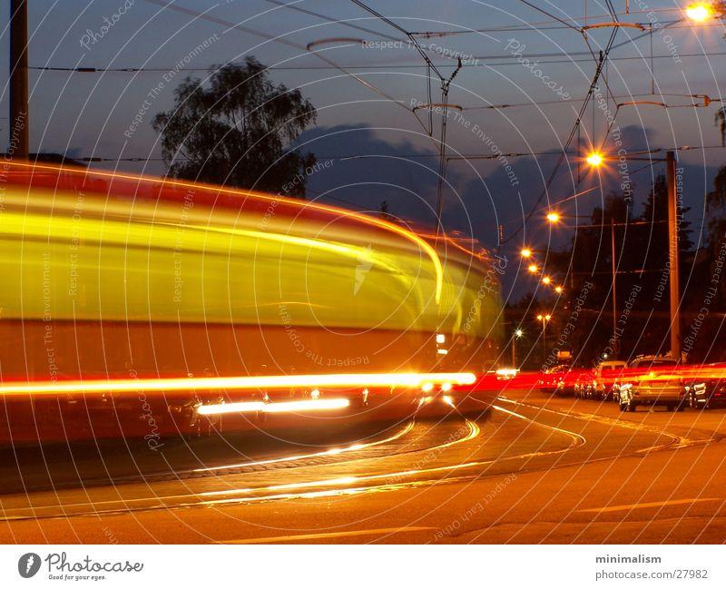 Line Transport Underground Dusk Tram