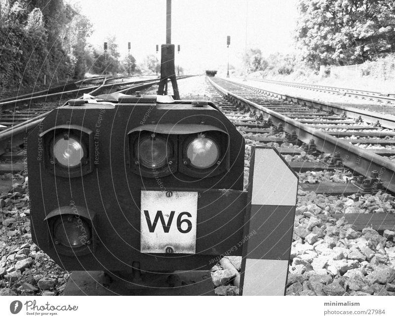 Lamp Transport Railroad Railroad tracks Signal