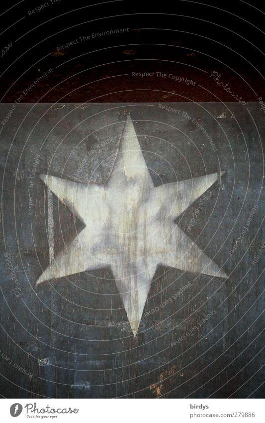 I am what I am - I`m a star Art Sign Star (Symbol) Illuminate Authentic Uniqueness Original Positive Gray Black White Esthetic Large Patina