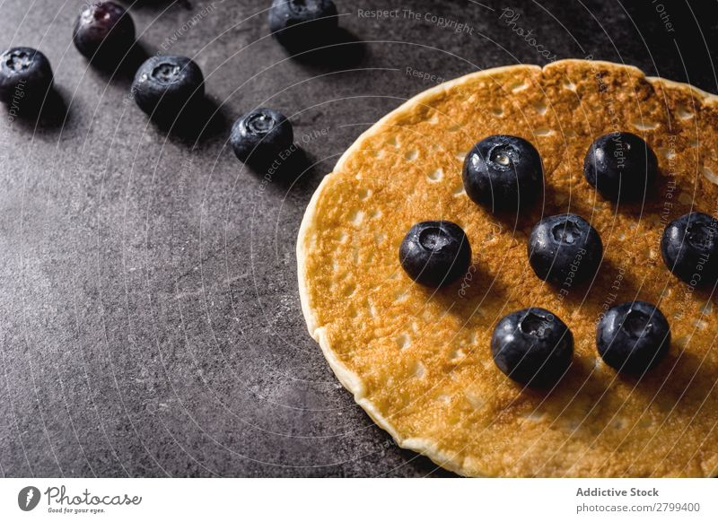 Fresh pancake with blueberries Pancake Blueberry Tabletop Kitchen Breakfast Food Morning Dessert appetizing Sweet Healthy Tasty Delicious yummy delectable