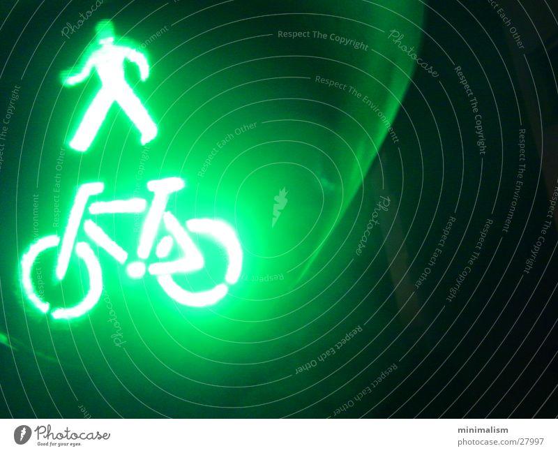 It doesn't get greener. Traffic light Green Light Electrical equipment Technology ampelmännchen