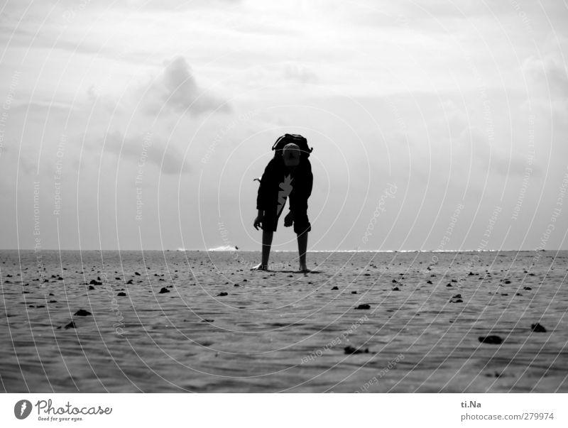 Water Vacation & Travel White Summer Ocean Beach Clouds Black Coast Gray Sand Air Horizon Waves Hiking Tourism