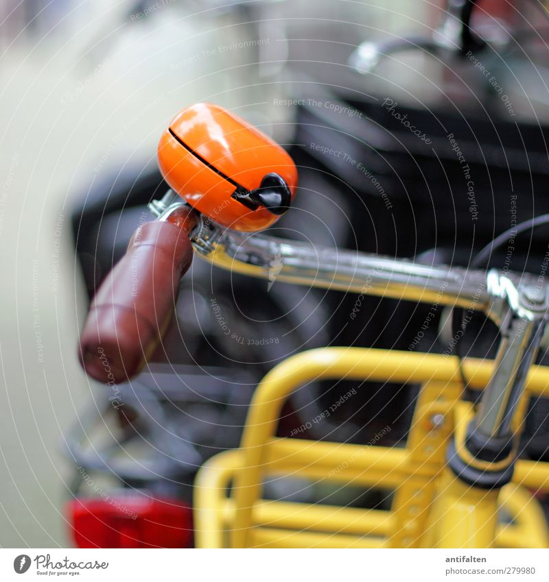 beautiful orange bicycle bell Sightseeing City trip Summer Fitness Sports Training Cycling Bicycle Town Port City Downtown Means of transport Street
