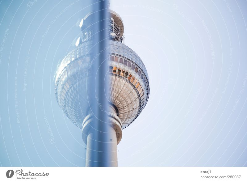 [b]leu Sky Sky only Cloudless sky Town Capital city Manmade structures Building Tourist Attraction Landmark Blue Berlin Berlin TV Tower Colour photo
