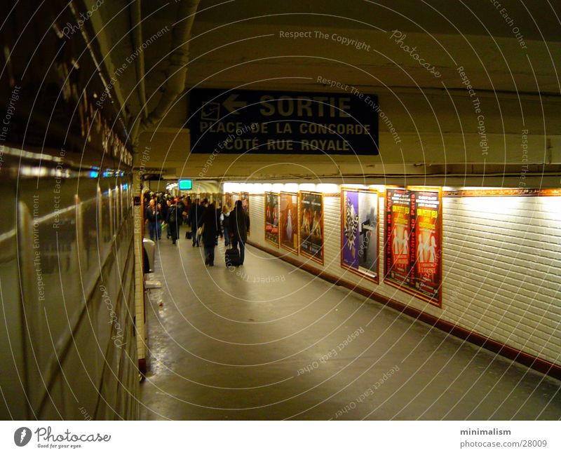 Transport Paris Tunnel Underground Concorde