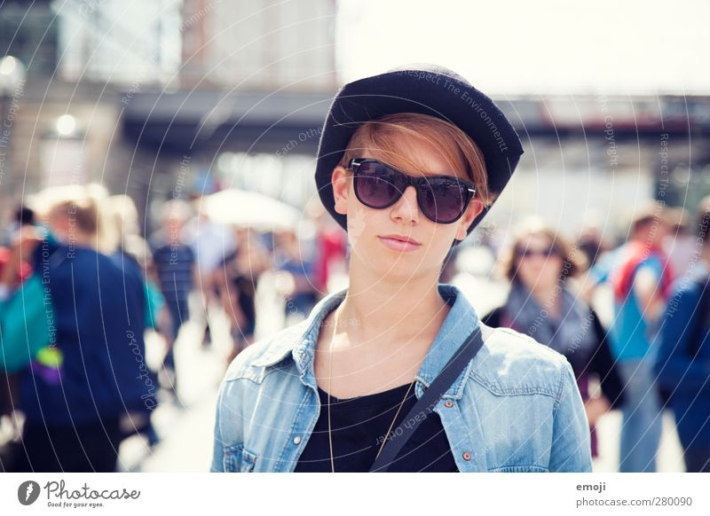 fallen in love with Feminine Young woman Youth (Young adults) 1 Human being 18 - 30 years Adults Sunglasses Hat Cool (slang) Beautiful Uniqueness Places