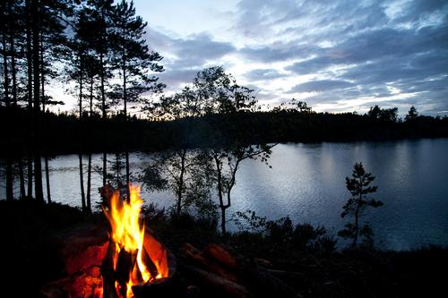 Nature Water Vacation & Travel Summer Landscape Forest Far-off places Environment Dark Freedom Lake Hiking Tourism Trip Adventure Fire