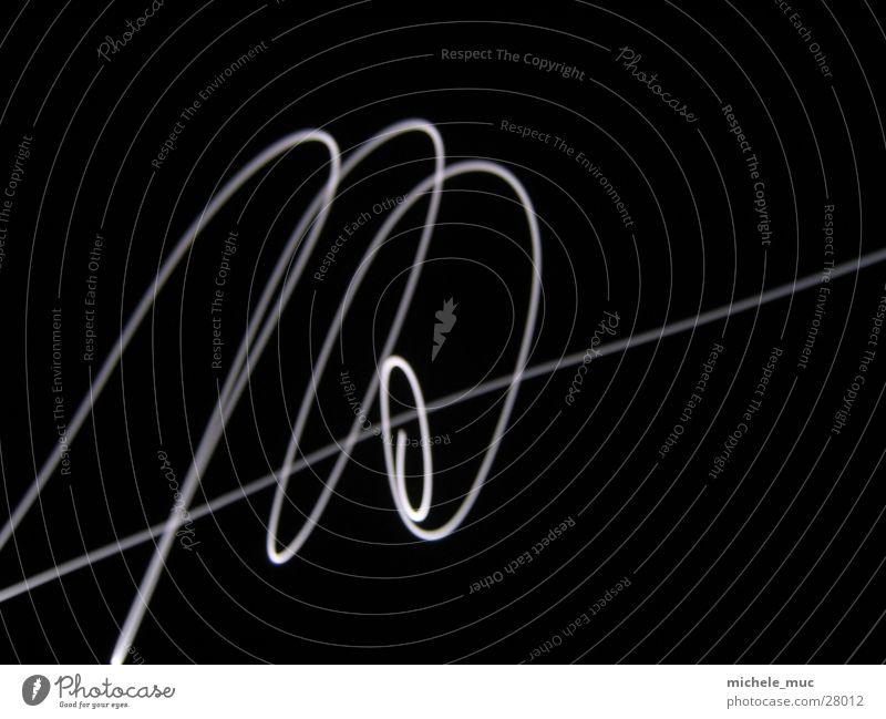 Long-term illumination #1 Long exposure Light White Night Spiral Line Moon