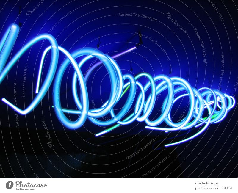 Industry Circle Neon light Spiral