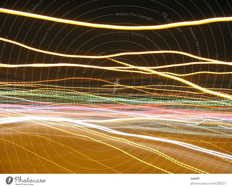 I'm so dizzy Night Traffic light Long exposure Rotate Street Colour Movement